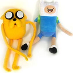 Toy - Adventure Time - Deluxe Plush - Jake and Finn - 2 pc assortment (1 Finn and 1 Jake) found on Bargain Bro Philippines from Unlimited Cellular for $37.59