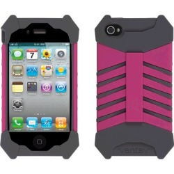 Ventev GRIPGuard Case for Apple iPhone 4/4S (Gray Silicone/Pink PC) found on Bargain Bro India from Unlimited Cellular for $13.09
