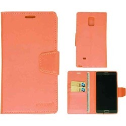 Wallet Diary Case,  Pink Leather