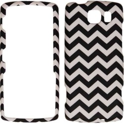Unlimited Cellular Snap-On Protective Cover for Kyocera S3150 (Black/White Waves)
