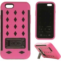 Cell Armor - Novelty Protector Case with Stand for Apple iPhone 6 - Pink and Black