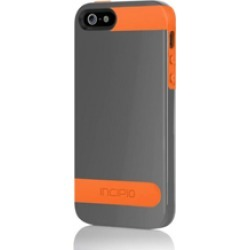 Incipio OVRMLD Hard Shell Molded Case for Apple iPhone 5 - Graphite Gray/Sunkissed Orange