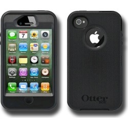 OtterBox Defender Hybrid Case & Holster for Apple iPhone 4/4S (Black)