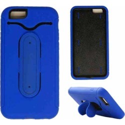 Cell Armor - Novelty Protector Case With Stand for Apple iPhone 6 - Blue and Black