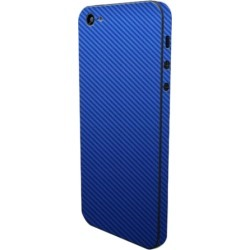 Slickwraps - Carbon Series Protective Film for Apple iPhone 5 - Blue