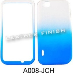 Unlimited Cellular Snap-On Case for LG myTouch E739 (Leather Finish Two Tone, White and Blue) found on Bargain Bro India from Unlimited Cellular for $5.99