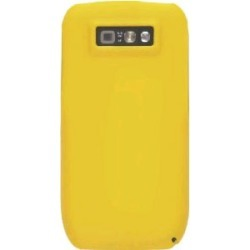 Wireless Solution Silicone Gel Case for Nokia E71x - Yellow