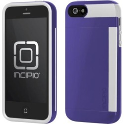 Incipio IPH-852 Stowaway Case for iPhone 5 (Purple/White)