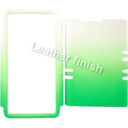 Unlimited Cellular Rocker Series Snap On Cover for Motorola XT913/Razr Maxx (Leather Two Tone White and Green)