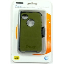 Otterbox Defender Case for iPhone 4/4S Black/Envy Green  (APL2-I4SUN-G3-A1)