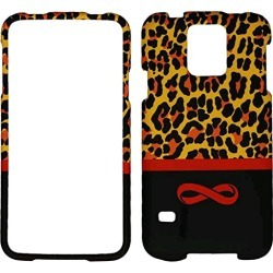 Cell Armor Snap-on Protective Case Cover Samsung Galaxy S5 (Brown Leopard Print with Infinity Logo) - SAMGS5-SNAP-TE664
