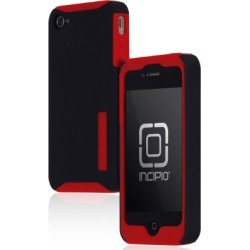 Incipio Silicrylic Hard Shell Case for Apple iPhone 4G/4S - Red/Black