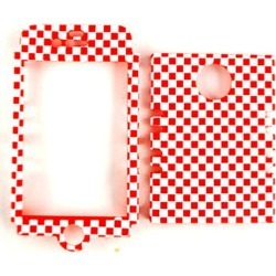 Cell Armor Rocker Snap-On Case for Apple iPhone 4/4S (3D Embossed Red/White Checkers)