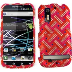 Unlimited Cellular Full Diamond Crystal Case for Motorola MB855/853/Photon4G/Electrify (Red/White Weave Pattern) found on Bargain Bro India from Unlimited Cellular for $6.99