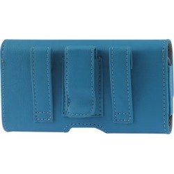 Reiko - Horizontal Pouch for Apple iPhone 5 Plus - Blue found on Bargain Bro Philippines from Unlimited Cellular for $6.59