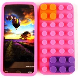 Cell Armor Case Cover for Apple iPhone 5 (Pink Skin with Removable Lego Pieces) -  IPhone5-NOV-B04-MA found on Bargain Bro India from Unlimited Cellular for $5.99