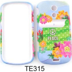 Unlimited Cellular Snap-On Cover Case for Samsung Galaxy Epic 4G Sprint (Peace Sign and Colorful Flowers)