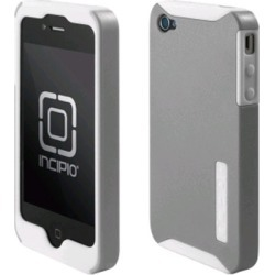 Incipio Silicrylic Gel Case for Apple iPhone 4/4S - White On Silver