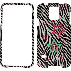 Cell Armor Snap-on Protective Case Cover Samsung Galaxy S5 (Stars on Zebra) - SAMGS5-SNAP-TE773