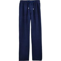 Men Linen Pants Solid - Pant - Pacha - Blue - Size XXL - Vilebrequin found on Bargain Bro UK from Vilebrequin EU & APAC