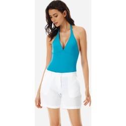 Women Ready to Wear - Women Linen Bermuda Shorts Solid - BERMUDA - LESLIE - White - XS - Vilebrequin found on Bargain Bro UK from Vilebrequin Europe
