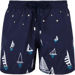 Men Embroidered Swimwear Porto Cervo - Limited Edition - Swimwears - Mistral - Blue - Size XS - Vilebrequin found on Bargain Bro UK from Vilebrequin EU & APAC