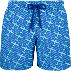 Men Embroidered Swimwear St Barth - Limited Edition - Swimwear - Mistral - Blue - Size S - Vilebrequin found on Bargain Bro from Vilebrequin Europe for £432