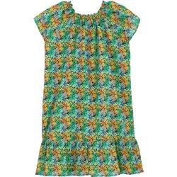 Cotton Voile Girls Dress Jungle - Dress - Gizelle - Blue - Size 12 - Vilebrequin found on Bargain Bro UK from Vilebrequin Europe
