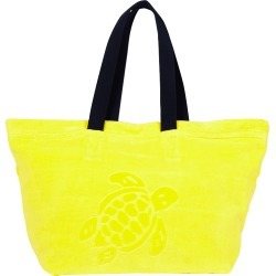 Big Terry Cloth Beach Bag Jacquard Solid - Beach Bag - Barney - Yellow - Size OSFA - Vilebrequin found on Bargain Bro UK from Vilebrequin Europe