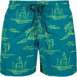 Men Embroidered Swimwear St Tropez - Limited Edition - Swimwears - Mistral - Green - Size S - Vilebrequin found on Bargain Bro UK from Vilebrequin EU & APAC