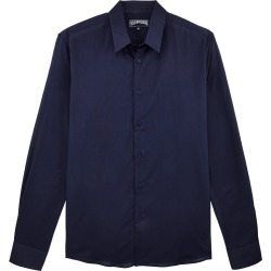 Unisex Cotton Voile Shirt Solid - Shirt - Caracal - Blue - Size XL - Vilebrequin found on Bargain Bro UK from Vilebrequin Europe