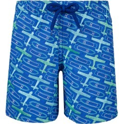 Boys Embroidered Swimwear St Barth - Limited Edition - Swimming Trunk - Misjim - Blue - Size 8 - Vilebrequin found on Bargain Bro UK from Vilebrequin EU & APAC