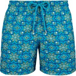 Men Embroidered Swimwear Tanger - Limited Edition - Swimming Trunk - Mistral - Blue - Size L - Vilebrequin found on Bargain Bro UK from Vilebrequin Europe
