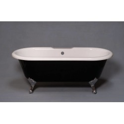 Strom Plumbing Arcadia 66 In Acrylic Double Ended Clawfoot Tub-No Drillings P1158C Chrome