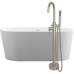 Randolph Morris Chloe 59 Inch Acrylic Double Ended Freestanding Tub Package SAVINGSPACKAGE36-BN found on Bargain Bro India from vintage tub & bath for $1289.00