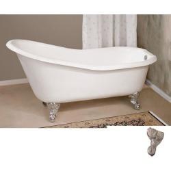 Cheviot 68 Inches Slipper Clawfoot Tub 2134W-BN R Brushed Nickel Feet found on Bargain Bro India from vintage tub & bath for $2826.00