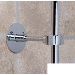 Strom Plumbing 4 Inch Shower Riser Brace P0026USB Unlacquered Satin Brass found on Bargain Bro India from vintage tub & bath for $67.71