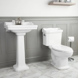 Randolph Morris Zurich Matching Sink & Toilet Set RM-ZURICH-SET4 White found on Bargain Bro from vintage tub & bath for USD $369.36