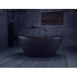 Aquatica PureScape 61 In AquateX Double Ended Freestanding Tub PS748M-BLCK Graphite Black found on Bargain Bro India from vintage tub & bath for $9200.00