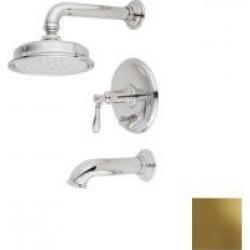 Newport Brass Ithaca Pressure Balanced Tub & Shower Trim Set 3-2552BP-03N Uncoated Polished Brass found on Bargain Bro from vintage tub & bath for USD $910.25