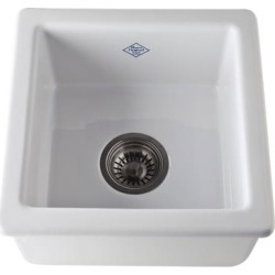 Rohl Original 1 Bowl Fireclay Kitchen or Prep Sink RC1515WH White