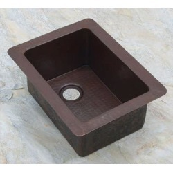 Sierra Copper Bostonian Rectangle 15 In Bar Sink SC-BOSR-16-A Antique found on Bargain Bro India from vintage tub & bath for $632.00