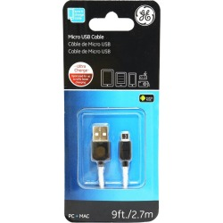 Cable Micro USB General Electrics 2.7m found on Bargain Bro India from walmartdirecto.mx for $7.53