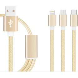 Cable Pulpo 3 En1 Tipo C Micro Usb Iphone Nylon 120cm - Dorado Oem GADGETSMX62970 found on Bargain Bro India from walmartdirecto.mx for $11.40