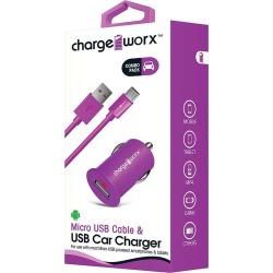 Cargador para Auto Micro USB Charge Worx CX3107VT 1.0A Violeta found on Bargain Bro India from walmartdirecto.mx for $6.01
