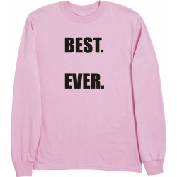 Personalized Best Shirts - Pink - Long Sleeve T-Shirt - Large