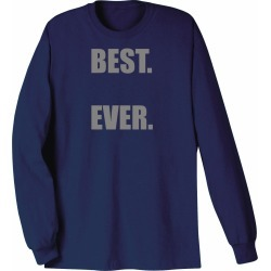 Personalized Best Shirts - Navy - Long Sleeve T-Shirt - Large