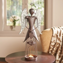 Winged Angel Candle Holder found on Bargain Bro India from What On Earth Catalog for $39.95