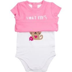 Animal Reveals Baby Bodysuit - Kitty - 12-24 Months