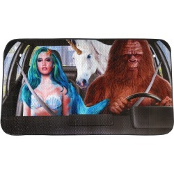 Mermaid, Unicorn & Bigfoot Car Sunshade found on Bargain Bro from What On Earth Catalog for USD $15.16